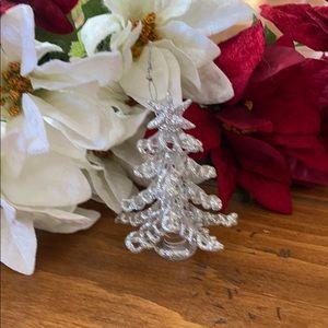 Hand spun glass xmas ornament